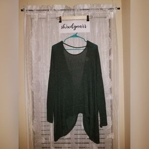 Oversized Backless Hunter Green Sweater